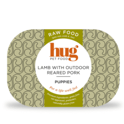 Puppy lamb with pork label