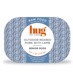 Hug Senior pork with lamb label