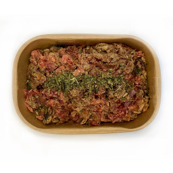 adult dog beef raw in packaging