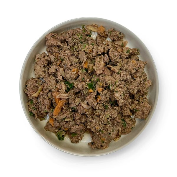 adult dog pork cooked in a bowl