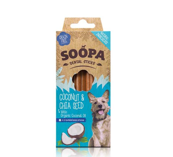 Soopa coconut and chia seed dental sticks