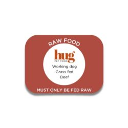 working dog beef label