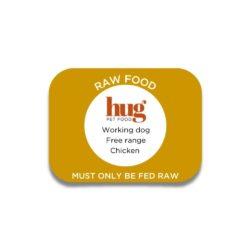 working dog chicken label