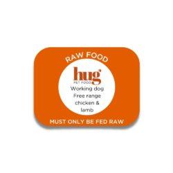 working dog chicken & lamb label