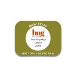 working dog lamb label