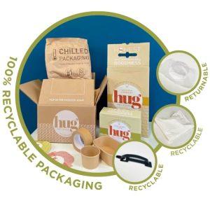Hug's packaging information